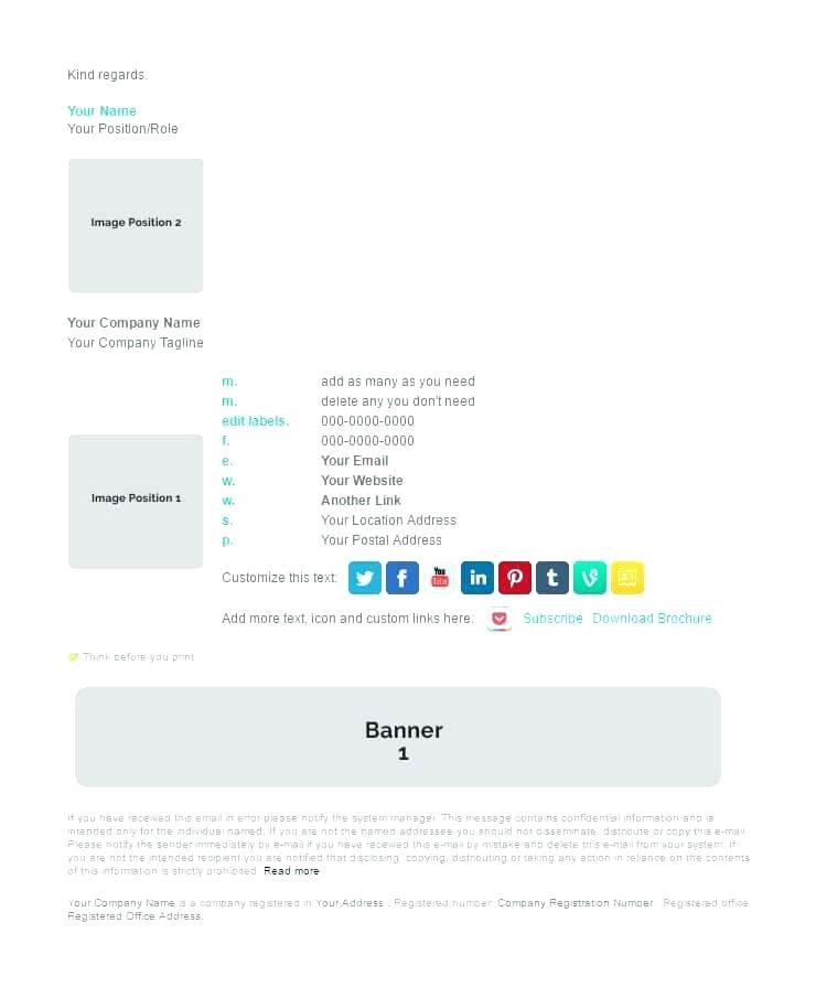 Corporate Email Signature Template Free