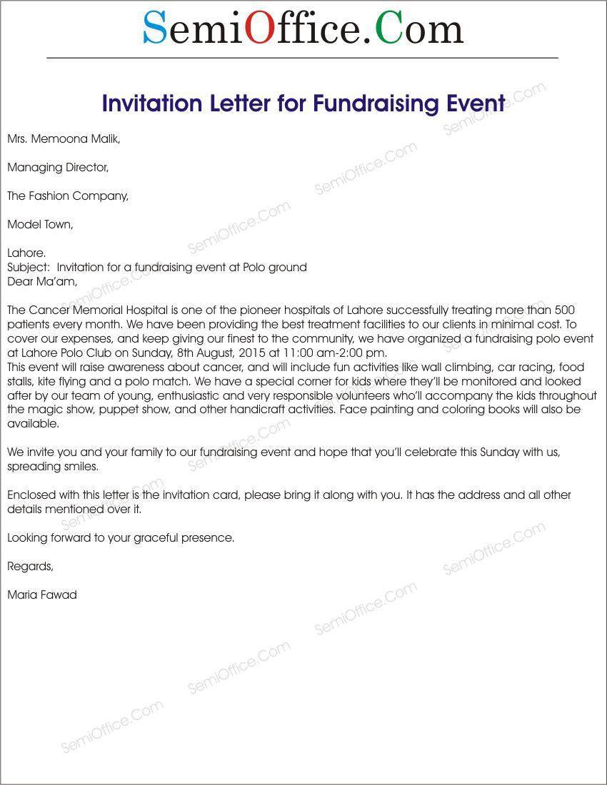 Corporate Event Invitation Letter Template