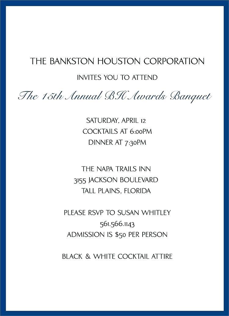 Corporate Event Invitation Sample