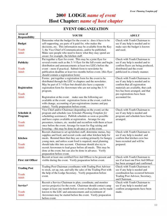 Corporate Event Planning Checklist Template Excel