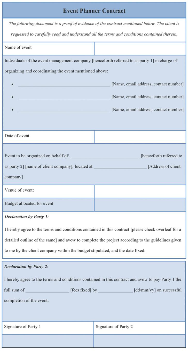 Corporate Event Planning Contract Template