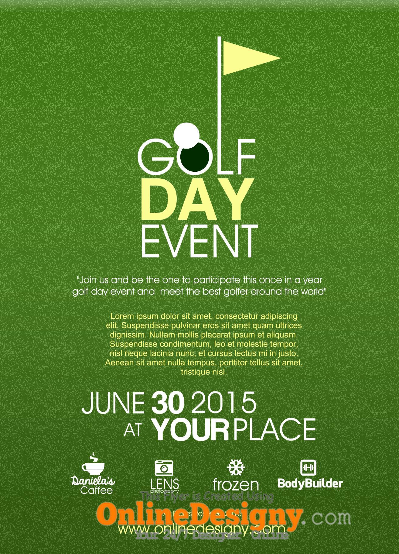 Corporate Golf Day Invite Template