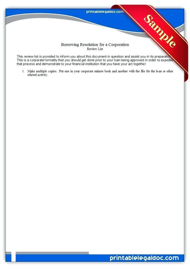 Corporate Minute Book Template