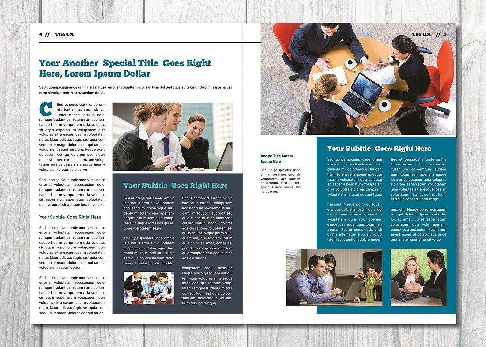 Corporate Newsletter Templates Indesign