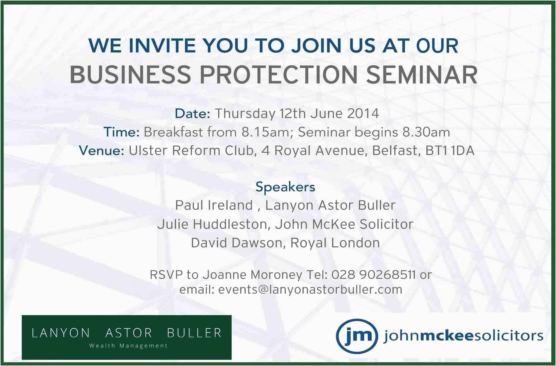 Corporate Seminar Invitation Templates