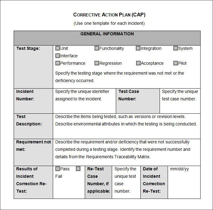 Corrective Action Plan Template Ppt