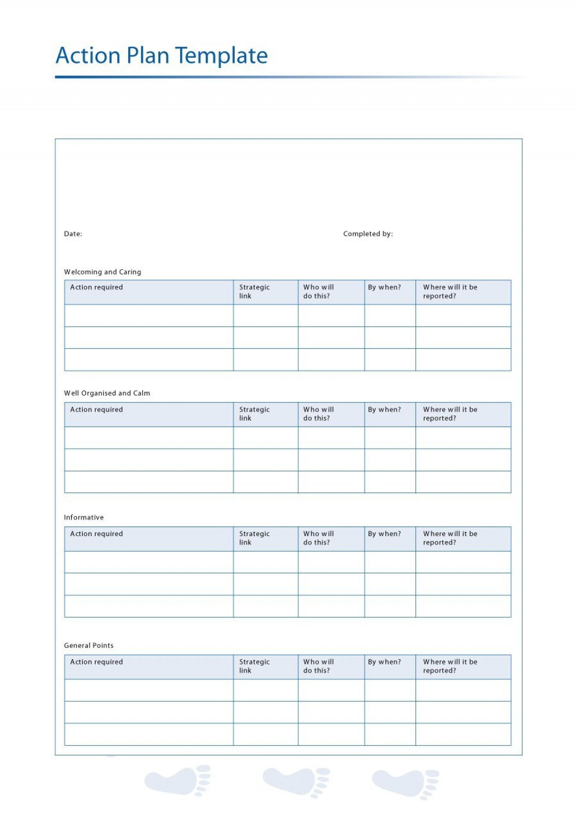 Corrective Action Plan Templates Download