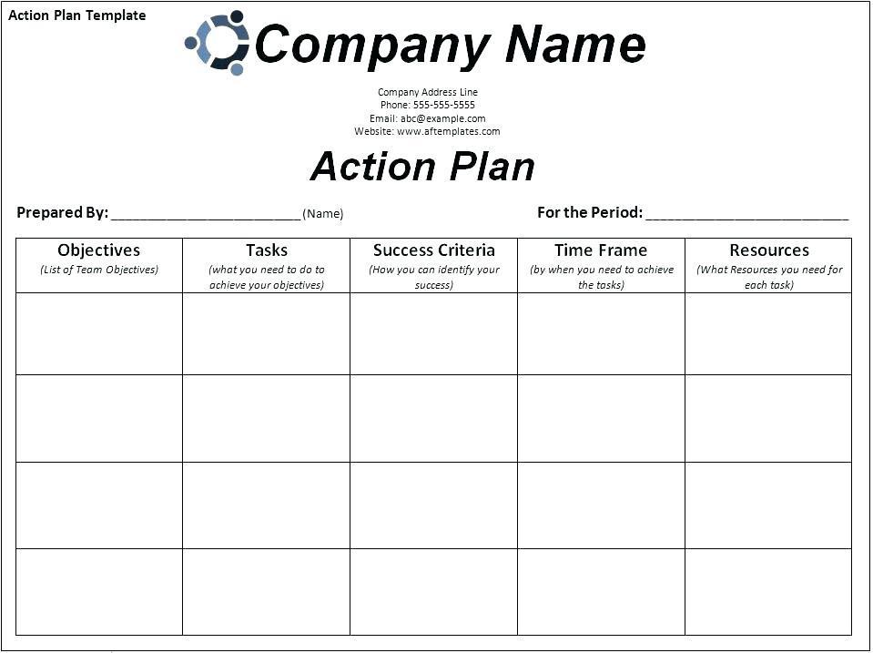 Corrective Action Plan Templates