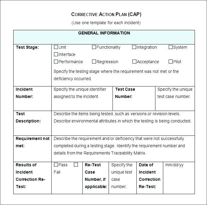 Corrective Action Request Template