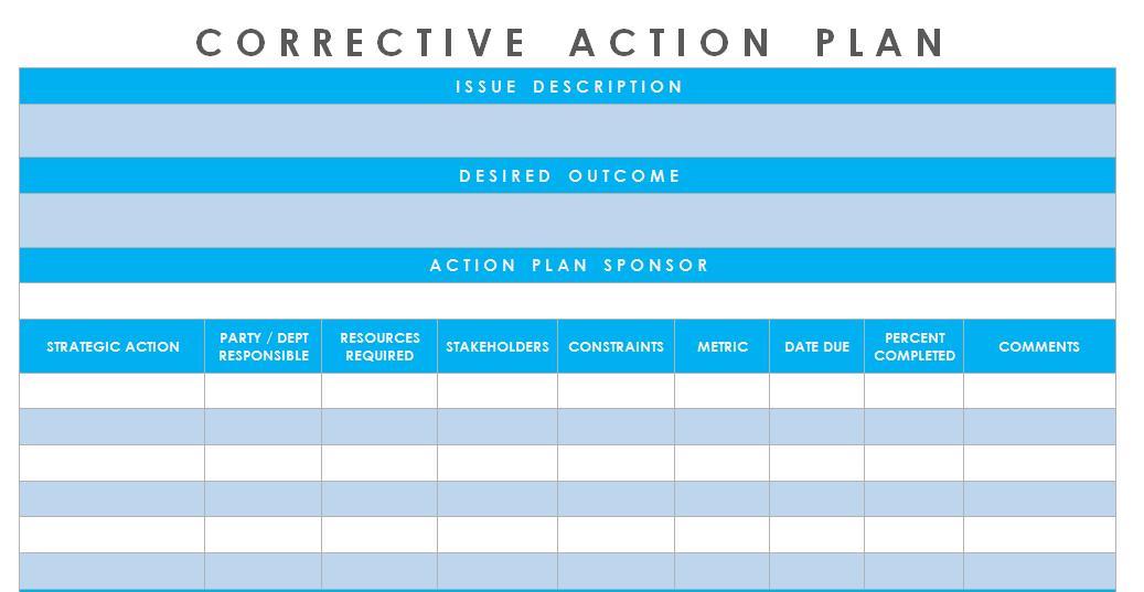Corrective Action Templates Excel