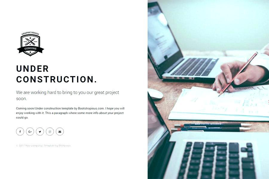 Countdown Landing Page Bootstrap Template