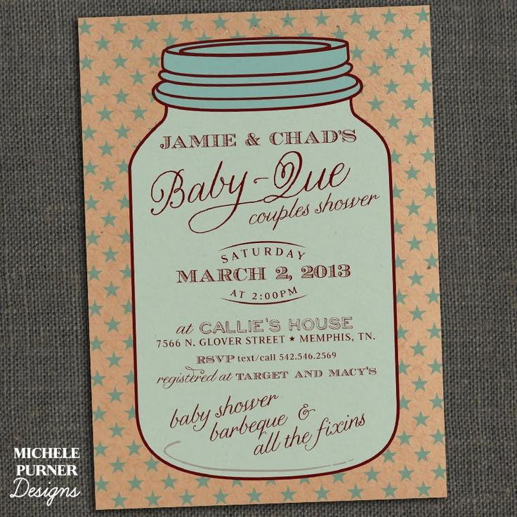 Country Baby Shower Invitation Templates
