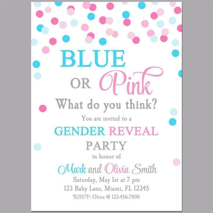 Country Gender Reveal Invitation Templates