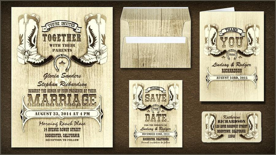 Country Themed Wedding Invitation Templates