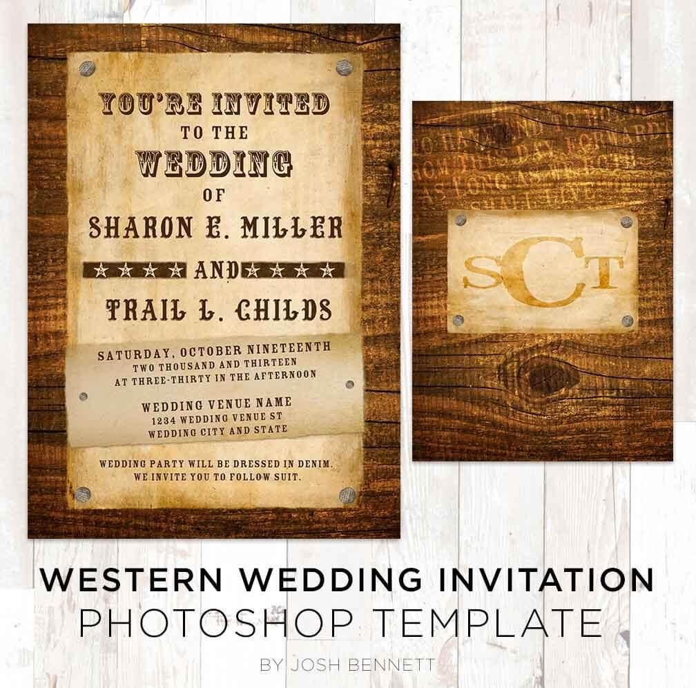 Country Western Invitation Template
