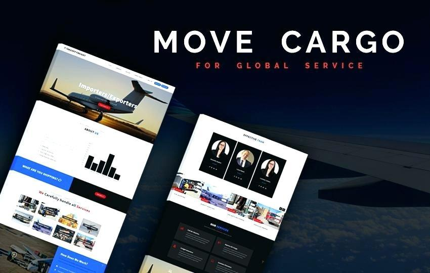 Courier Service Website Template Free