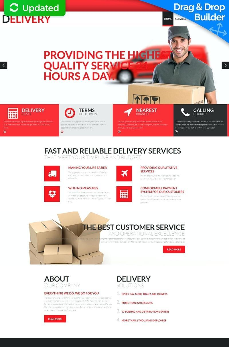 Courier Service Website Template