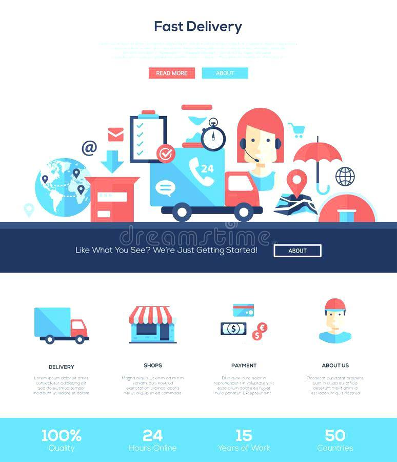Courier Website Template WordPress