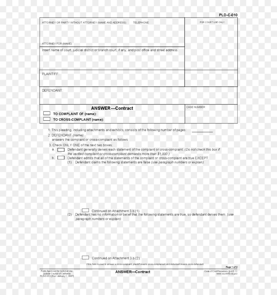 Court Document Template