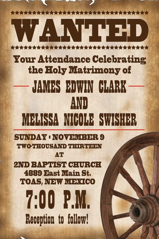 Cowboy Invitation Template Free
