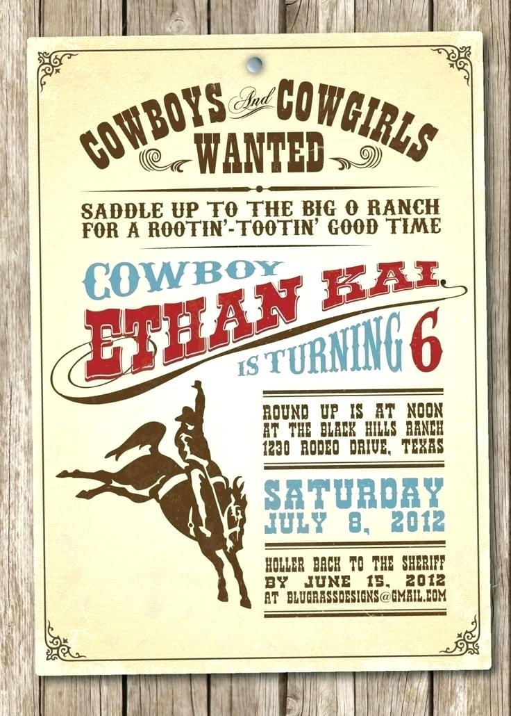 Cowboy Theme Party Invitation Template