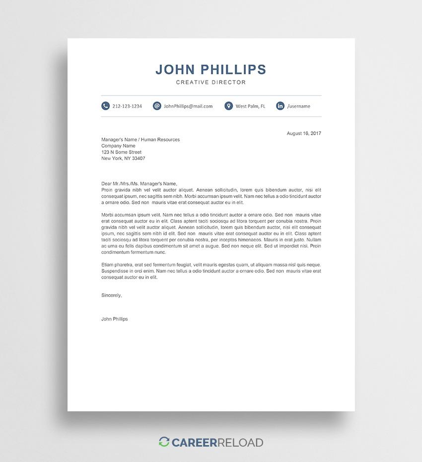 Creative Cover Letter Templates Free