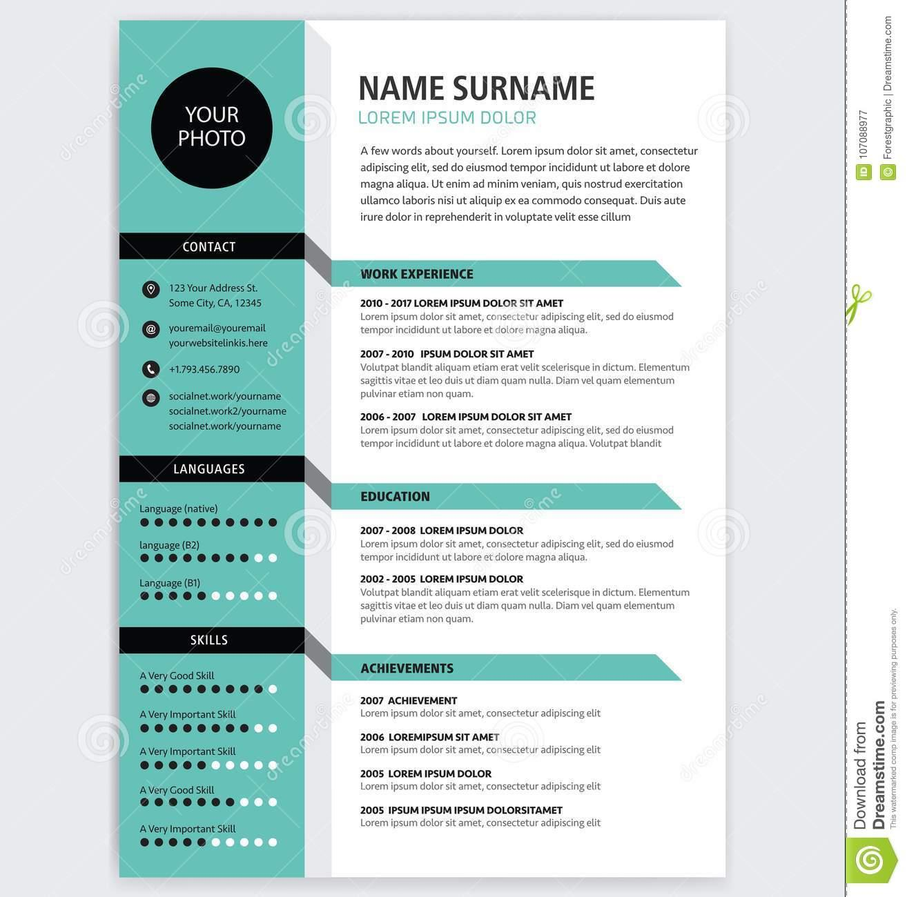 Creative Infographic Cv Template