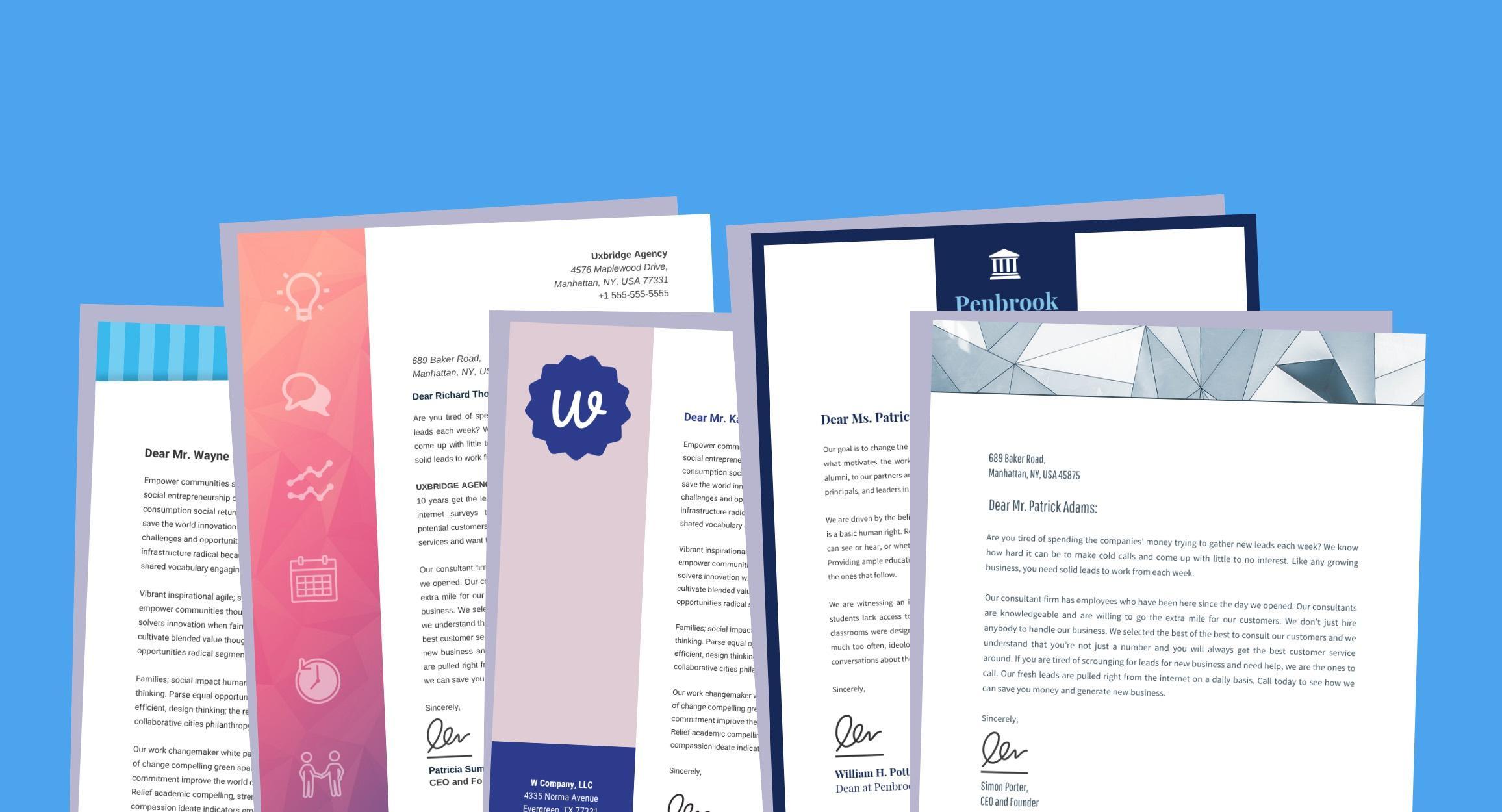 Creative Letterhead Templates Free