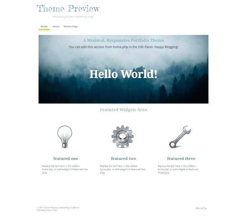Creative Parallax Website Templates