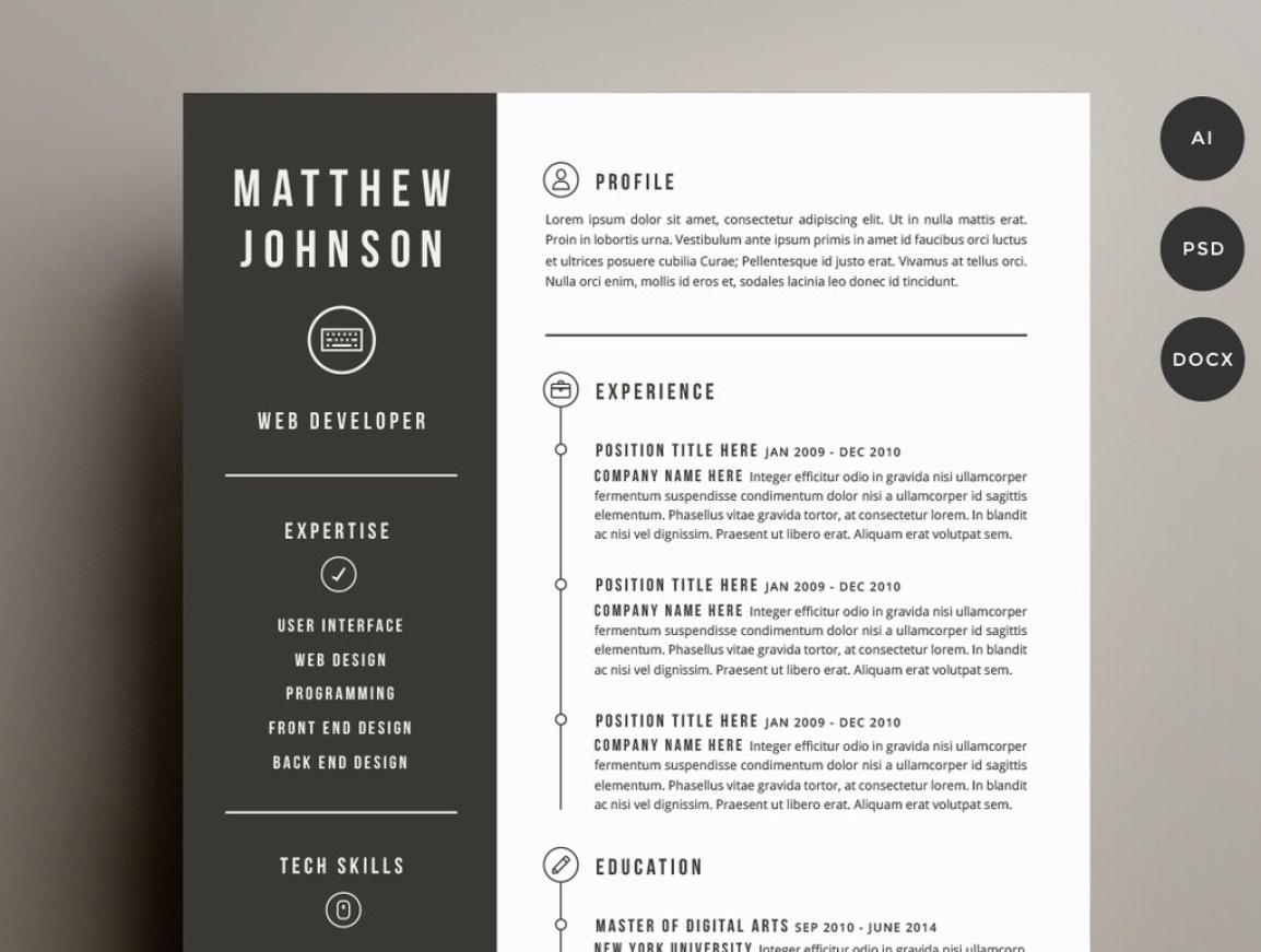 Creative Resume Template Word 2007