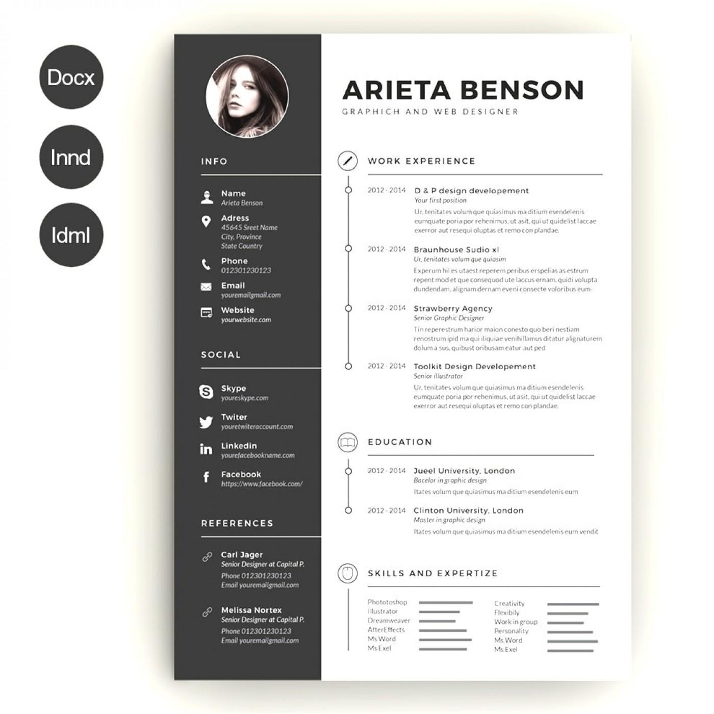 Creative Resume Template Word Download Free