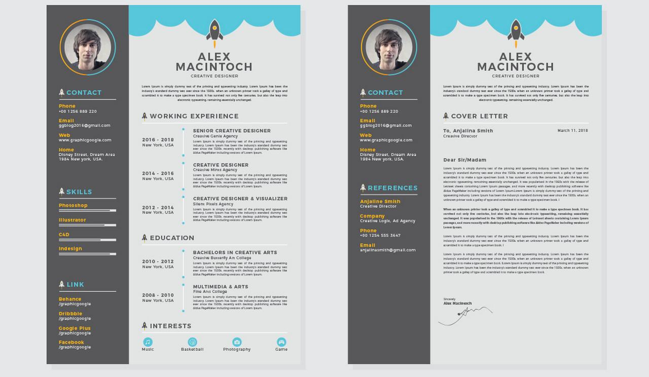 Creative Resume Templates Doc Free Download