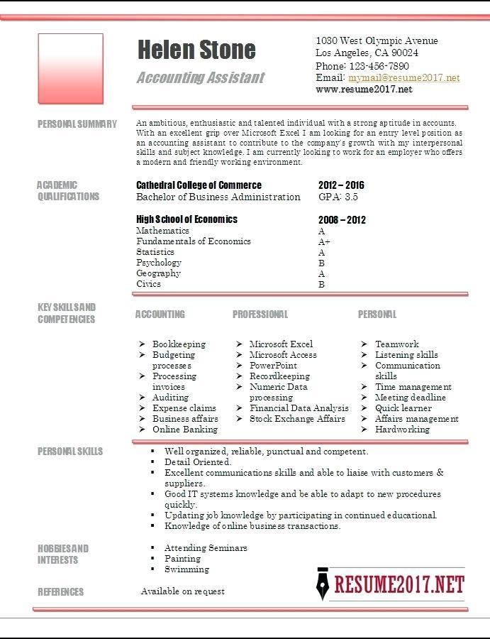 Creative Resume Templates For Accountants