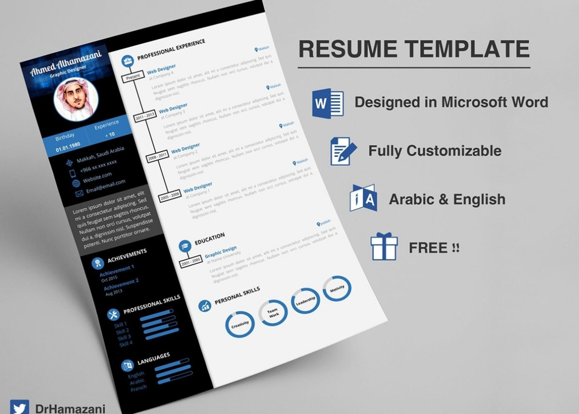 Creative Resume Templates Free Microsoft Word