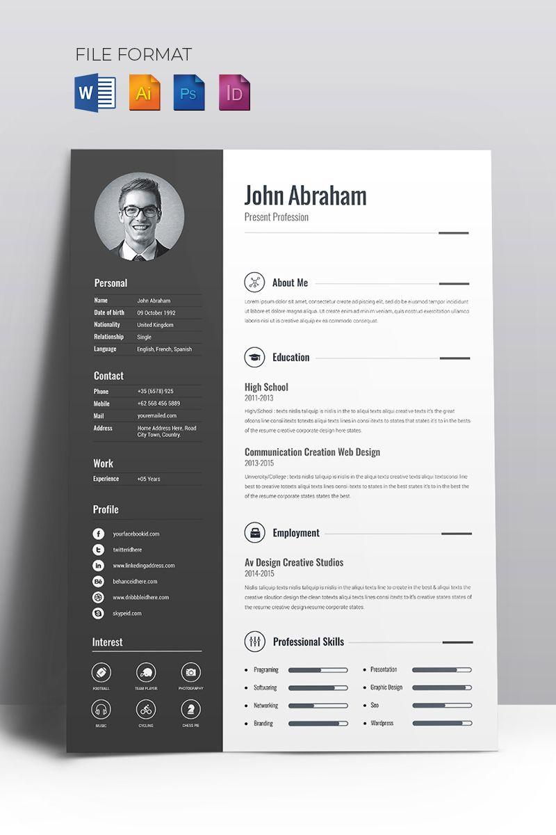 Creative Resume Templates Pinterest