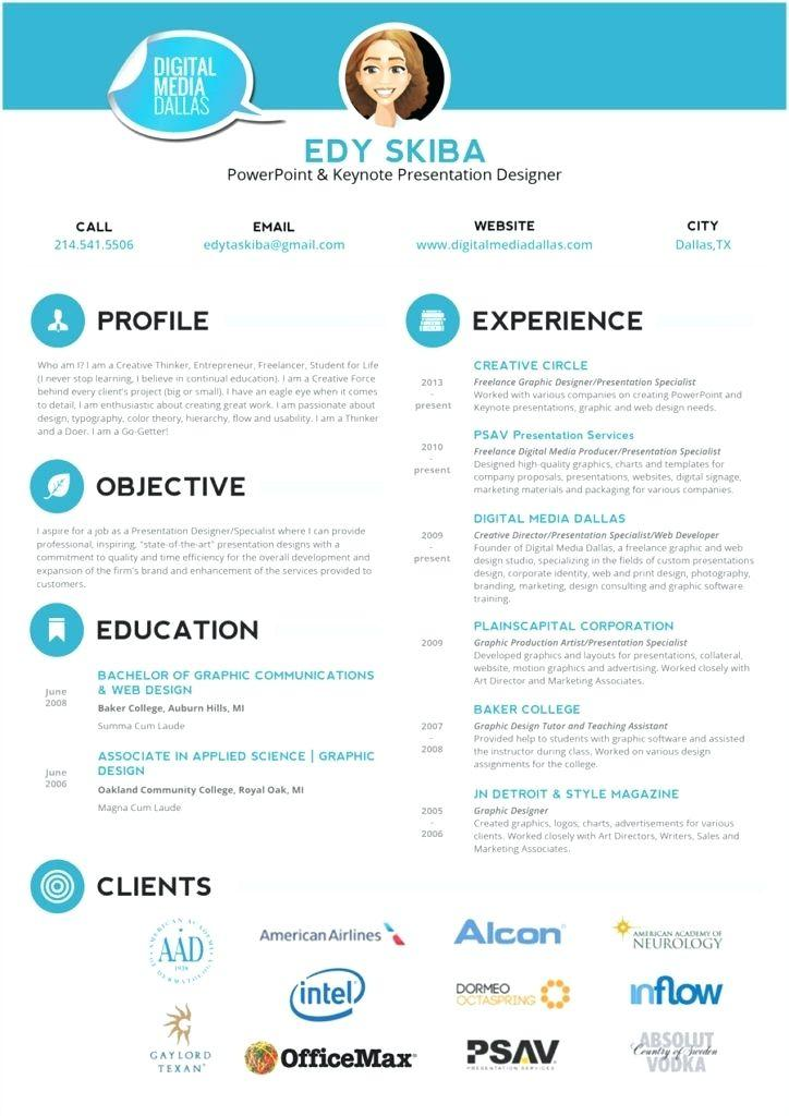 Creative Resume Templates Powerpoint Free