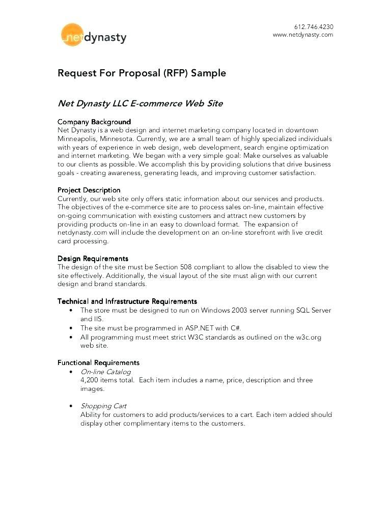 Crm Request For Proposal Template