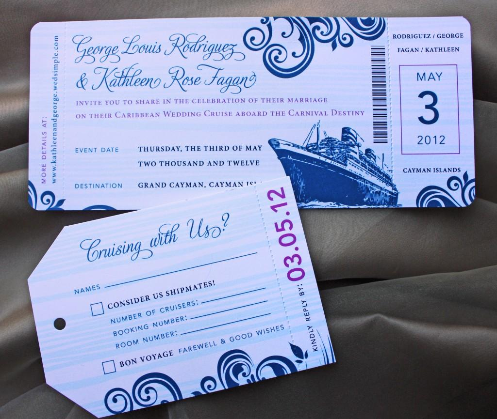 Cruise Wedding Invitation Template
