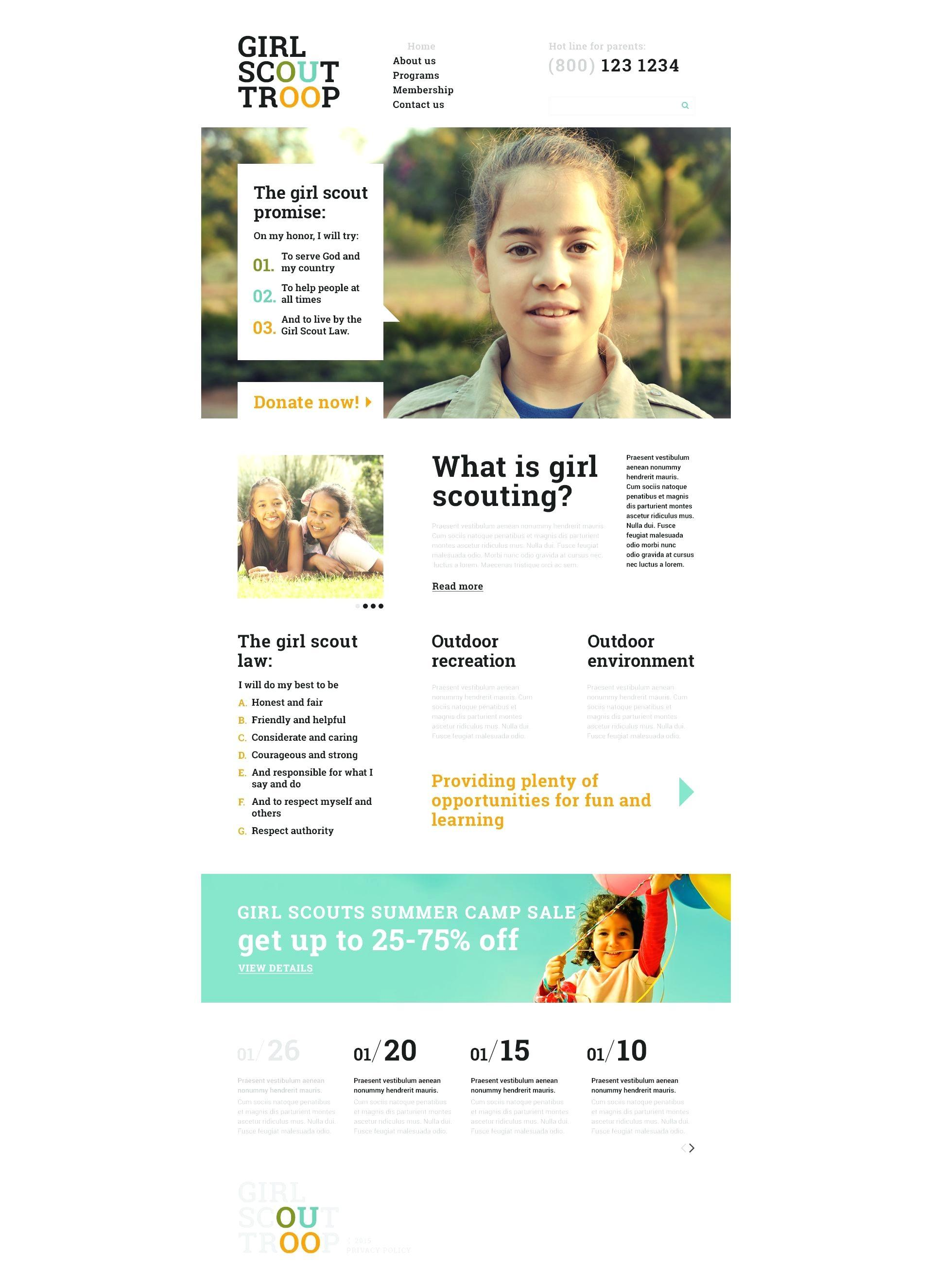 Cub Scout Pack Website Templates