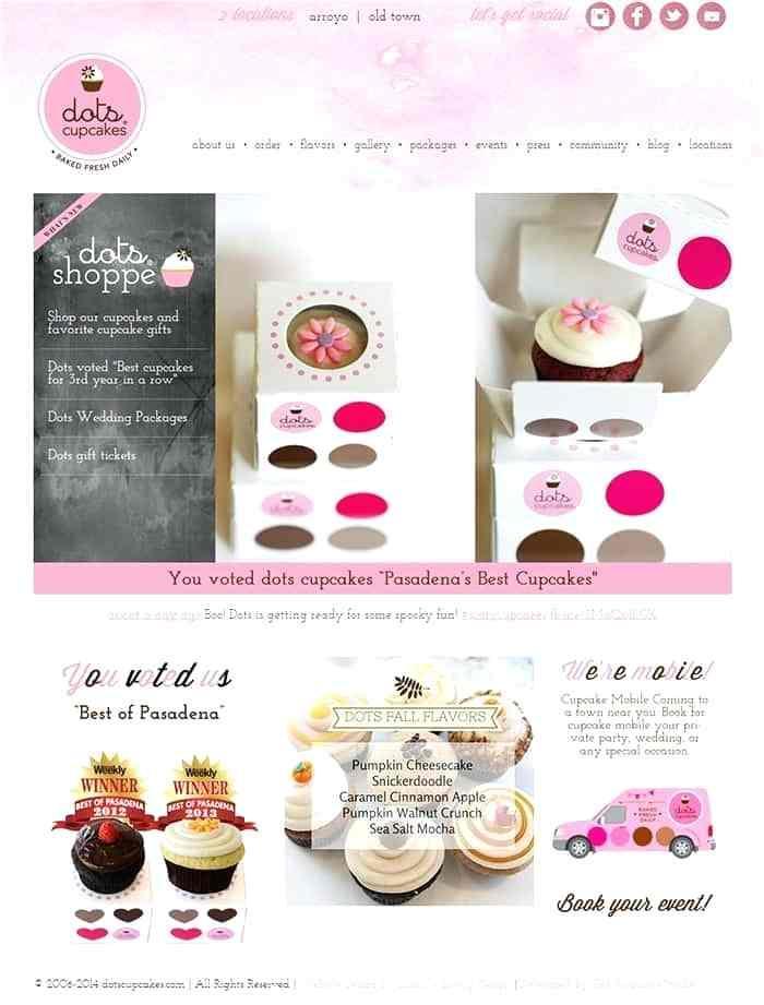 Cupcake Business Website Template