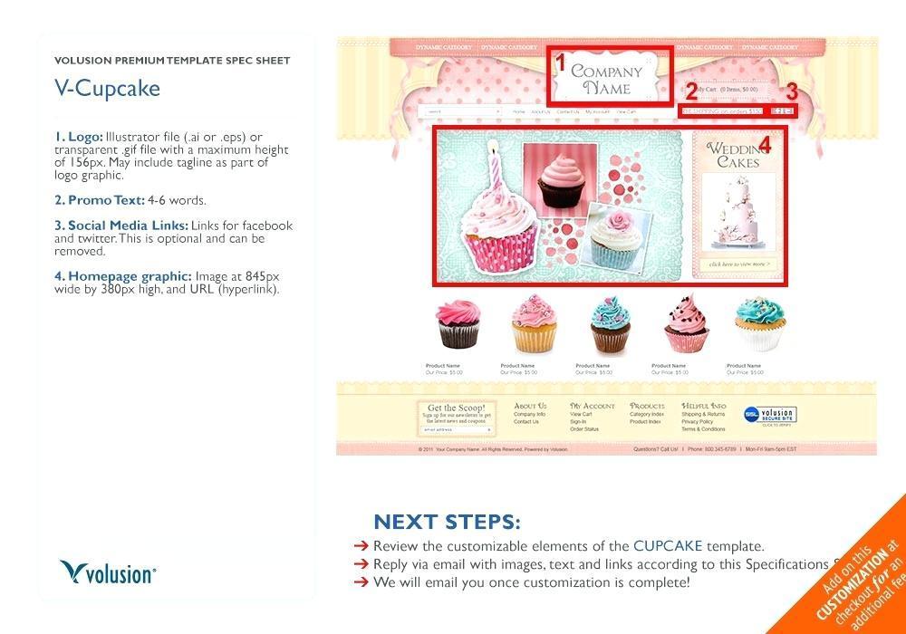 Cupcake Website Template Free Download