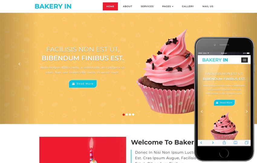 Cupcake Website Template
