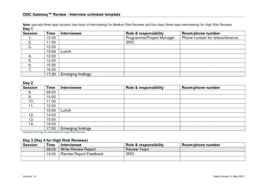 Curling League Schedule Template