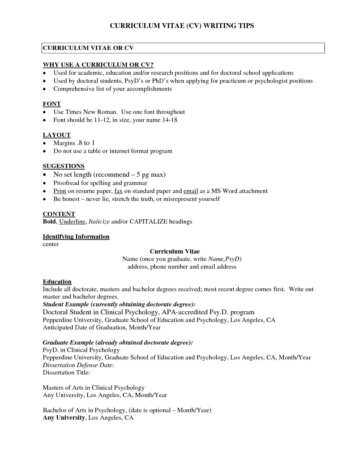 Curriculum Vitae Templates 2017