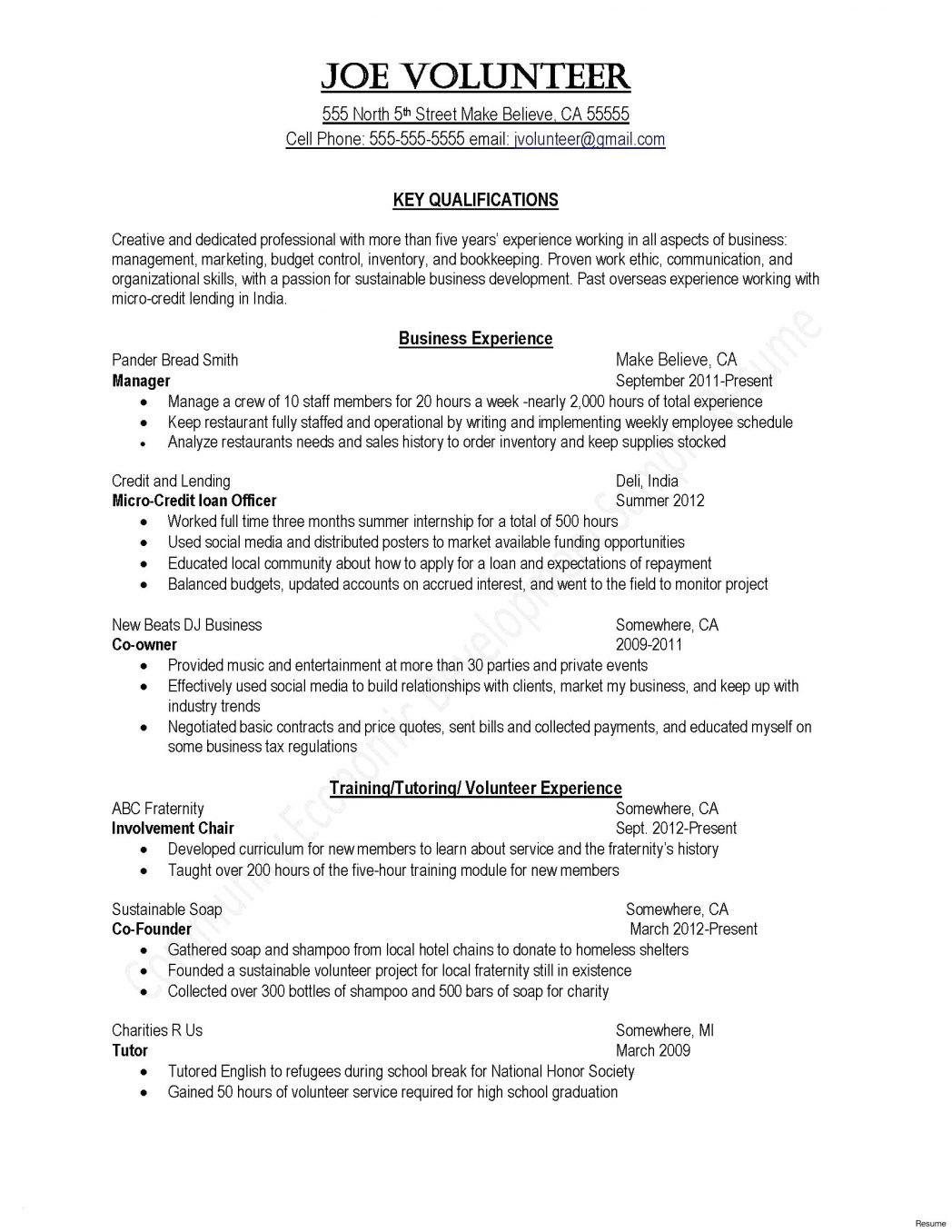 Curriculum Vitae Templates For Managers