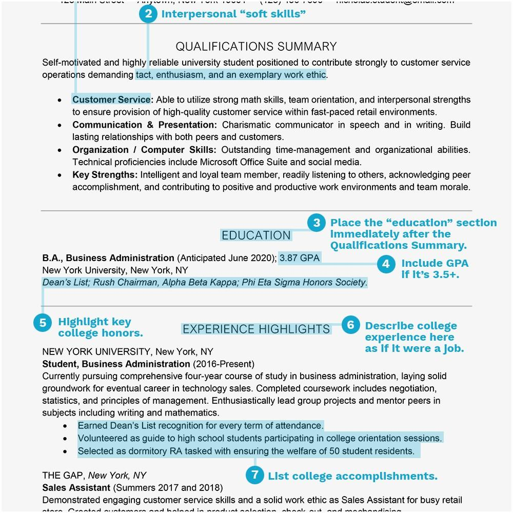 Curriculum Vitae Templates For Students