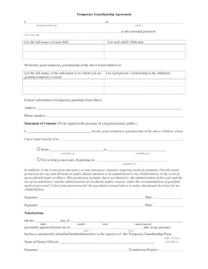 Custody Agreement Template For Grandparents
