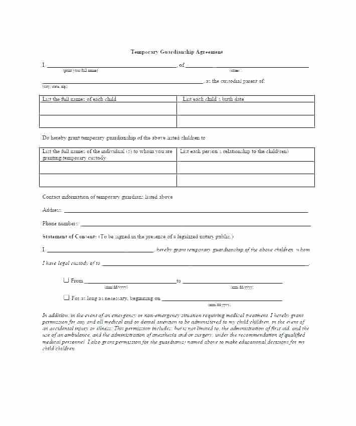 Custody Agreement Template Oklahoma