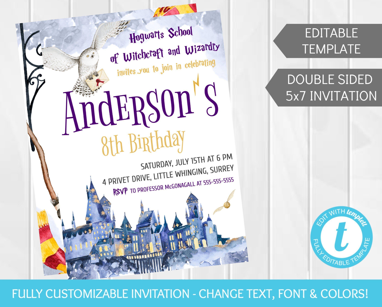 Custom Birthday Invite Template
