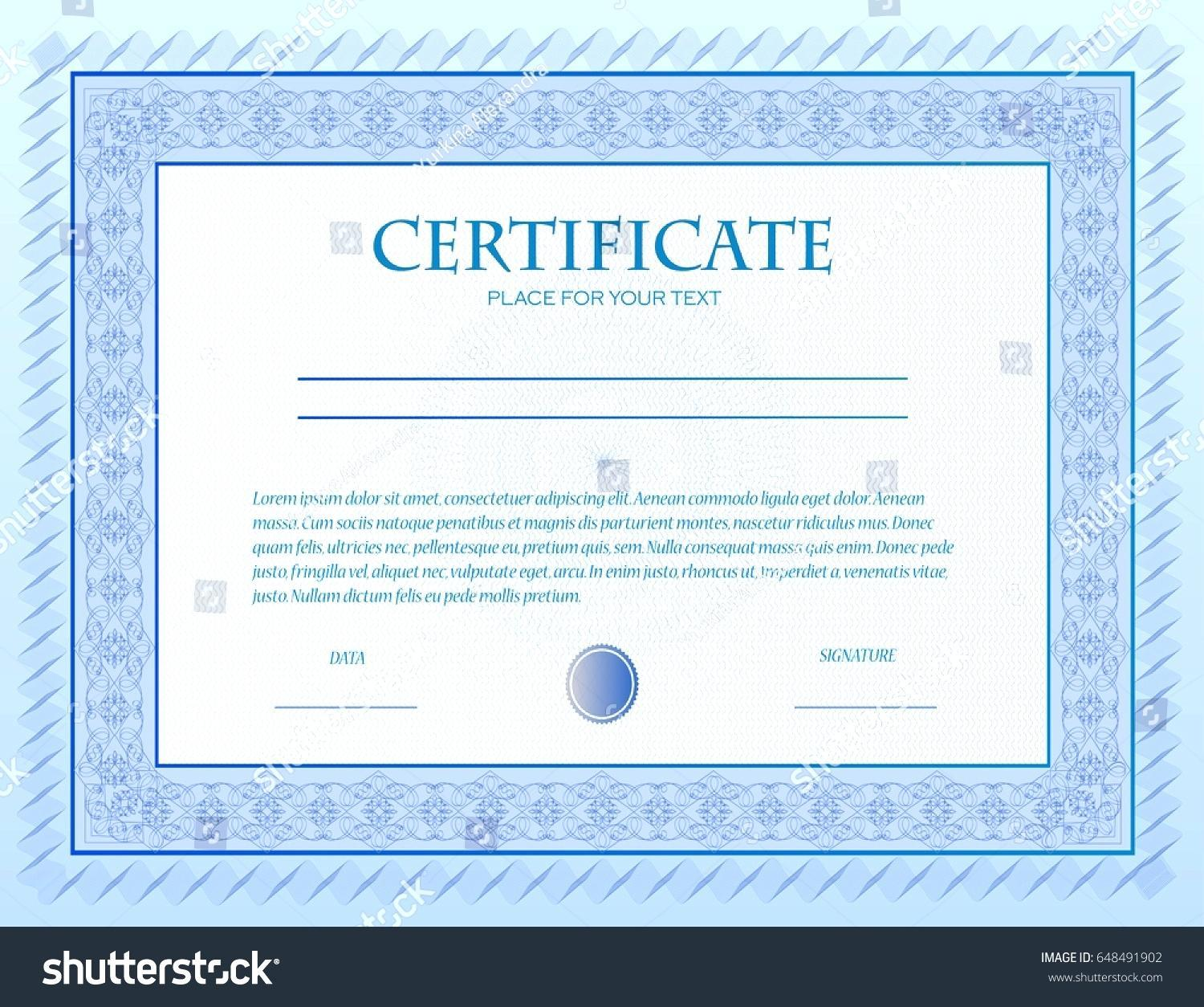 Custom Gift Certificate Template Free Download